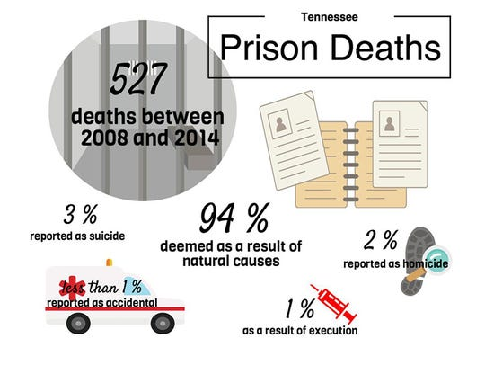 Click to enlarge. Tennessee Prison Deaths by the numbers.