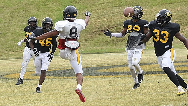 Grambling held its first padded practice of fall camp on Tuesday.