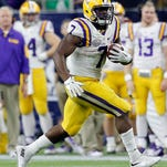 LSU Tigers running back Leonard Fournette (7) rushes against the Texas Tech Red Raiders at NRG Stadium. Fournette is the LSWA's 2015 Headliner of the Year.