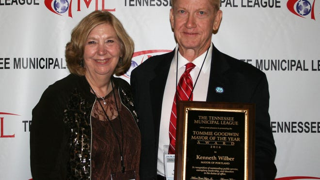 Portland Mayor Ken Wilber has been named the 2016 Mayor of the Year by the Tennessee Municipal League.