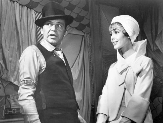 Frank Sinatra and Barbara Rush in Robin and the 7 Hoods