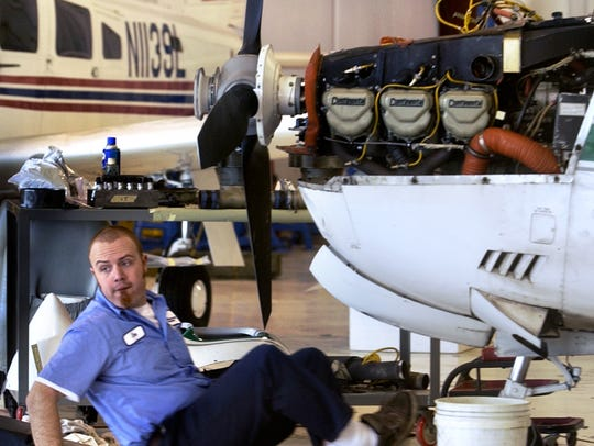 A 9 percent increase in aircraft mechanics and service