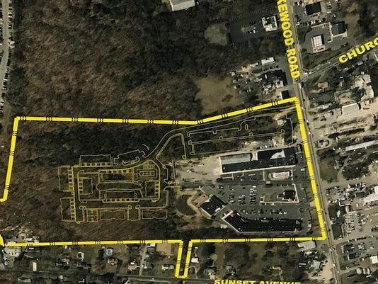Woods at Toms River site, aerial view