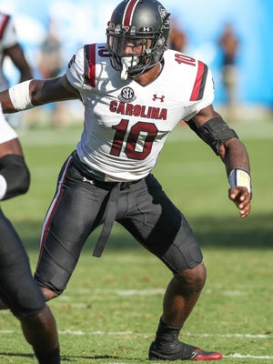 Former South Carolina linebacker Skai Moore said he did not know his 40-yard dash time from Tuesday, but felt like he improved on the 4.73 he ran at the NFL Combine.