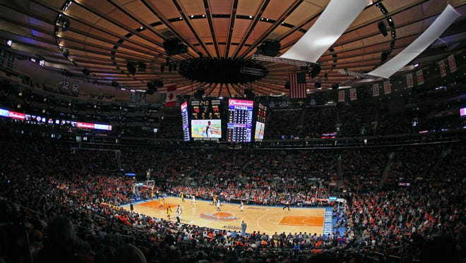 This file photo from 2013 shows Madison Square Garden in New York.