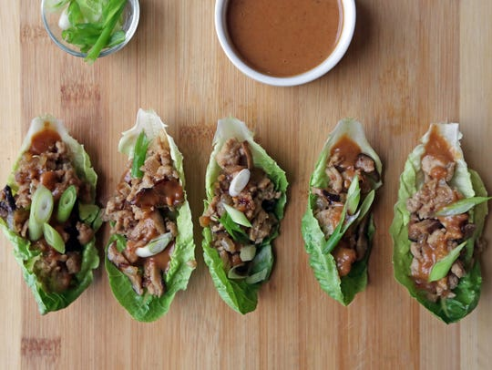 Asian Chicken Wraps, Hot Cocoa Cake, Ginger Jump-Up