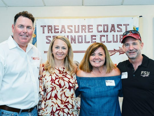 Event organizers Kevin and Terry Murphy and Kim and Ray Coombs at the Treasure Coast Seminole Club's inaugural sendoff event at the Fort Pierce Yacht Club.