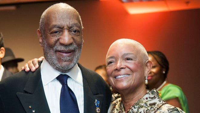 Bill Cosby and his wife, Camille Cosby, at a Smithsonian event in 2014.