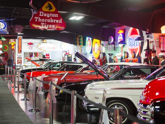 Just a few of the classic cars on display inside Bennett's