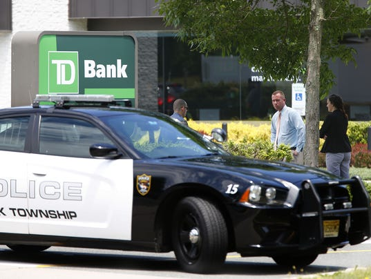 Brick bank robbery