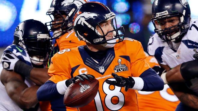 The Denver Broncos' Peyton Manning.
