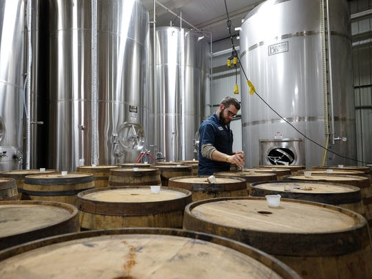 Holland-based New Holland Brewing Co. ages its Dragon's