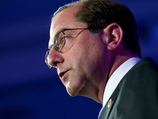 Department of Health and Human Services Secretary Alex Azar speak during the panel The Opioid Crisis, at the National Governor Association 2018 winter meeting, on Saturday, Feb. 24, 2018, in Washington, D.C.