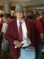 Alton White, a 78-year-old Bear Bryant look-alike,