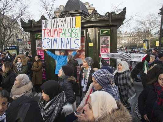 France Jerusalem Protest