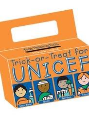 The iconic orange UNICEF box used for those Halloween