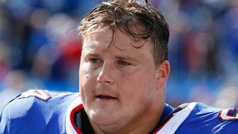 Buffalo Bills offensive guard Richie Incognito (64) against the New York Jets at New Era Field.