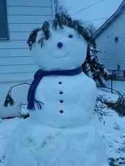 Giant snow woman!