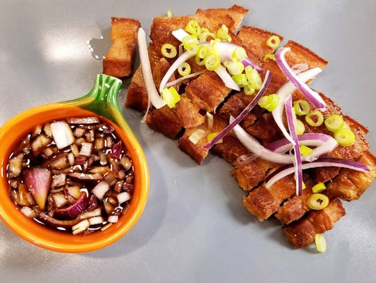 Lechon Kawali is a dish of crunchy, deep-fried pork
