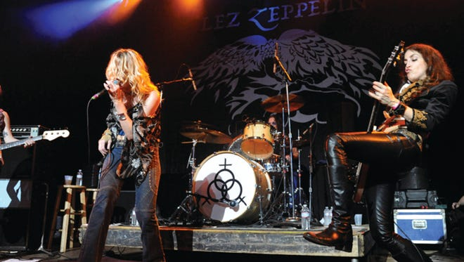 Lez Zeppelin is an all-female tribute to Led Zeppelin that will rock May 20 at Union County Performing Arts Center in Rahway with Nirvanaish, a Nirvana tribute act.