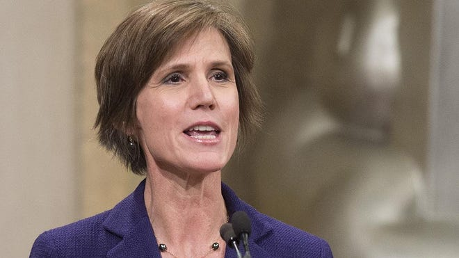 President Donald Trump has fired acting Attorney General Sally Yates after she ordered Justice Dept. lawyers to stop defending refugee ban.