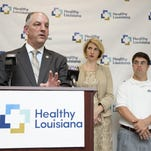 Gov. John Bel Edwards addresses his roll out of Medicaid expansion at the Southwest Louisiana Health Services Center in Lafayette May 11, 2016.