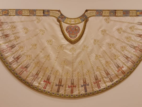 An exquisitely embroidered cope that delights the eyes