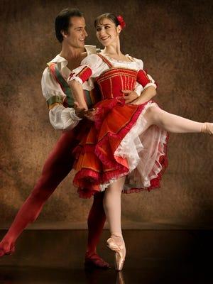 "Ballet Arizona stars Astrit Zejnati and Paola Hartley in 2008's ""Don Quixote."""