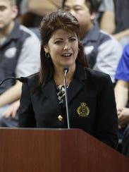 Wisconsin Lt. Gov. Rebecca Kleefisch addresses the