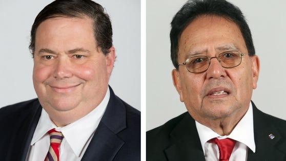 "Blake Farenthold-R (left), Raul ""Roy"" Barrera-D (right)"