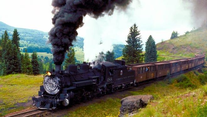 Cumbres and Toltec Scenic Railroad runs from Chama to Antonito, Colorado