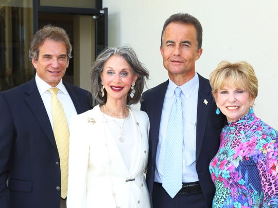 File, from left, CEO of Jewish Federation of the Desert Bruce Landgarten, event co-chair Susan Good, Bernd Wollschlaeger, and event co-chair Barbara Weisberg.
