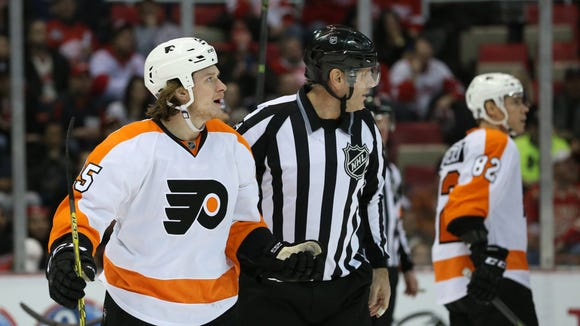 Ryan White was given a match penalty in Sunday night's win, which meant the NHL was definitely going to look at the hit.