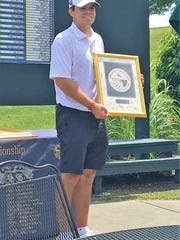 Austin Squires, Ryle graduate and University of Cincinnati junior, was runner-up in the Tony Blom Metropolitan Amateur championship July 1, 2018 at Triple Crown Country Club.
