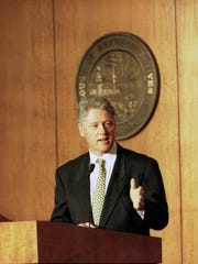 Then-President Bill Clinton addresses a joint session of the Florida Legislature in 1995.