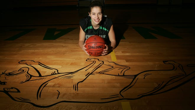 Greendale's Ashley Imperiale poses after being named the 2007 All-Suburban Girls Basketball Player of the Year.