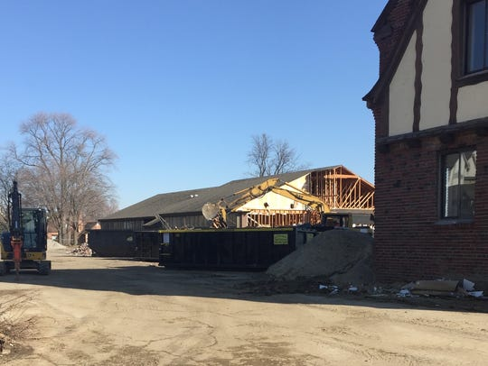 The middle section of the St. Clair Inn has been demolished