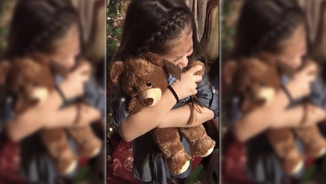Two girls get the Christmas gift of a lifetime.