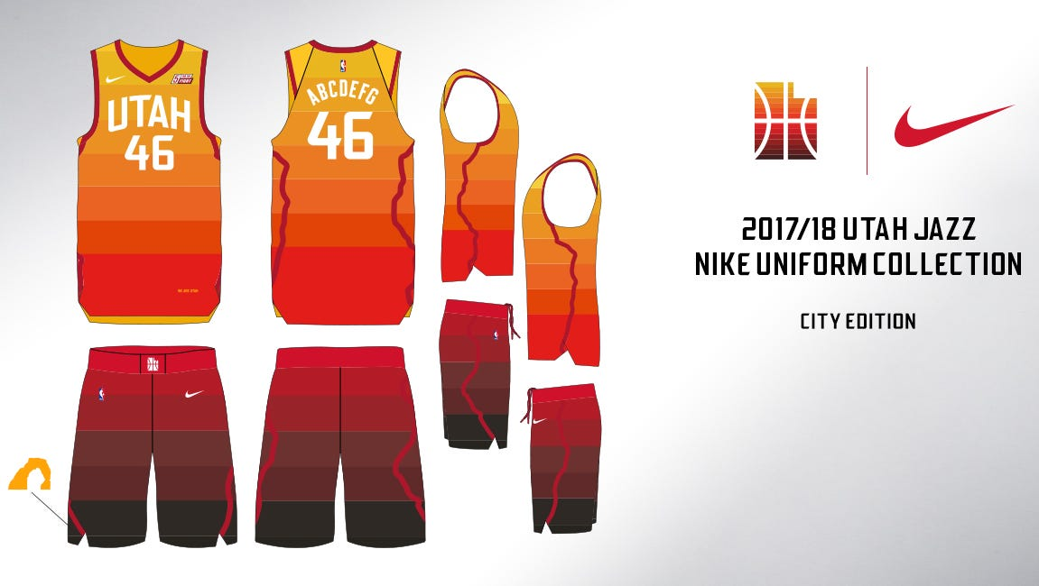 137d145ef05 ... where can i buy utah jazz honoring southern utah with new uniform de1c5  5f320