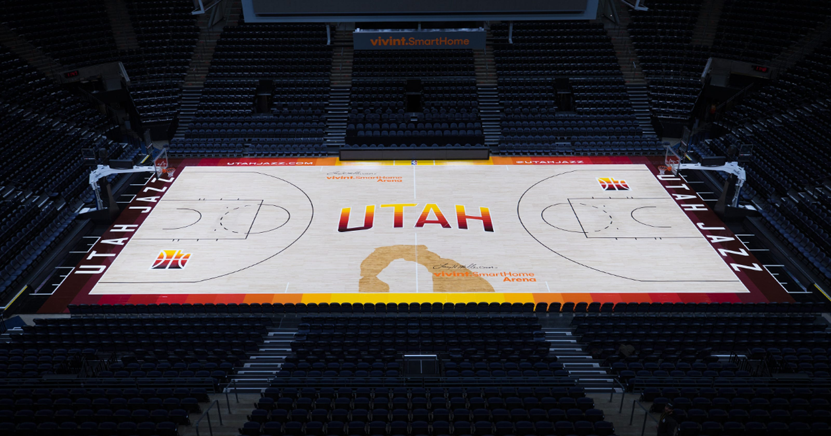 The Southern Utah Jazz  New red rock-inspired court and uniforms to ... 16d4b551e