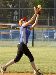 Edison shortstop Haley Maggs catches a pop-up to end