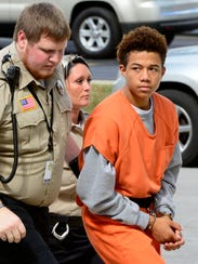 Elijiah Starks, 15, is charged with the murder of his 14-year-old cousin Jaylen Brock.