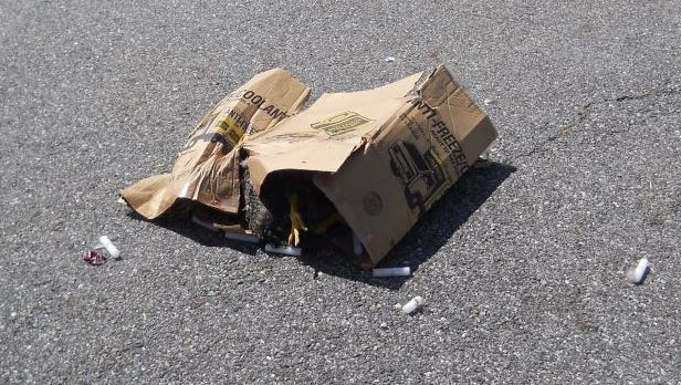 Two dead chickens were found in a cardboard box around 1:15 p.m. Sunday in the parking lot of the Mobil gas station at 102 Route 6, according to Chief Ken Ross of the Putnam County SPCA Humane Law Enforcement Department.