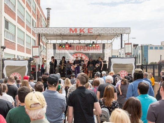 Pabst Milwaukee Brewery street party