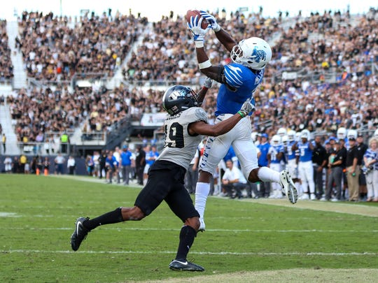 Memphis' Anthony Miller scored 18 touchdowns in 2017, and he has made a visit to Buffalo.