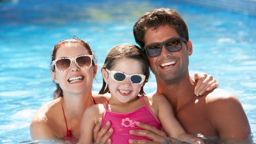 Protect your eyes from the sun's harmful UV rays all year round.
