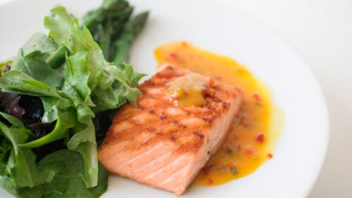 Fresh salmon and leafy greens help chemo patients get the nutrition they need.