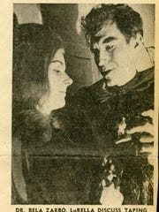 This May 26, 1971 Corpus Christi Times clipping about KIII's Wide Scream Theatre featured Dr. Bela Zarbo (Marvin Wheatley) and LuRella (Dee Wray).