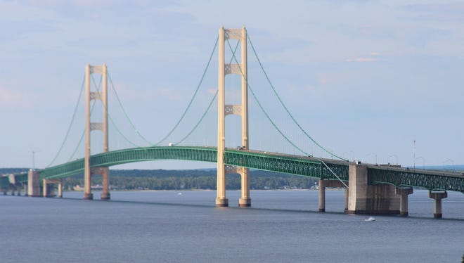The Mackinac Bridge from Straits State Park in St. Ignace, Mich.