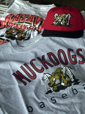 -  -Batavia Muckdogs newest and most popular Muckdog tee-shirt. Little league teams from as far away as Texas and Colorado and a softball team in Massachusetts have bought the shirts and hats for their team name. for a Pitoniak story on the popularity of the Muckdogs logo.(Democrat and Chronicle, staff photo by Jay Capers, 061400, D1)